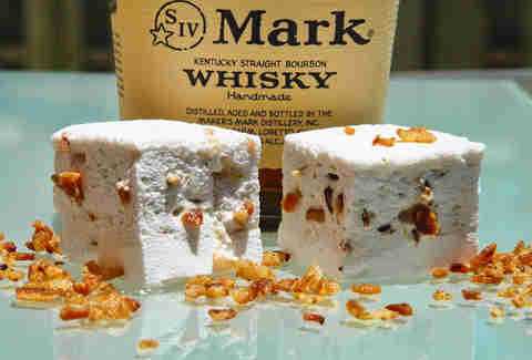 Bourbon bacon marshmallows