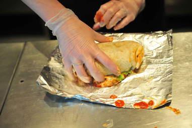 rolling burrito