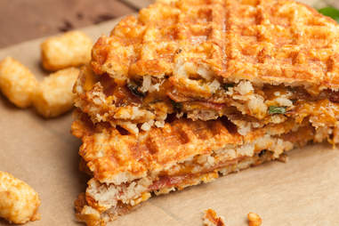 Bacon-Jalapeno Grilled Cheese with Tater Tot Waffle— Thrillist Recipes