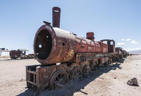 Salt Flats Bolivia - The Train Graveyard in Uyuni City