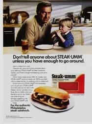 '80s Steak-Umm print ad