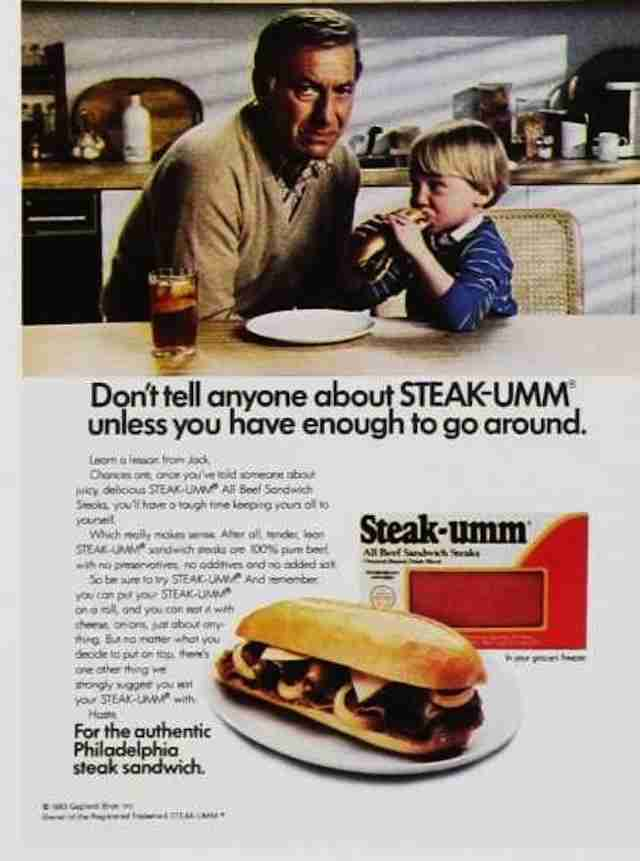 '80s Steak-Umm print ad