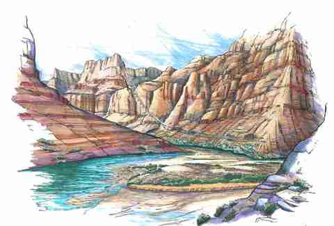 grand canyon rendering