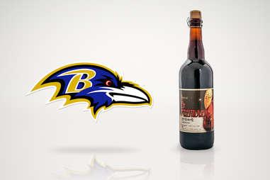 baltimore ravens beer