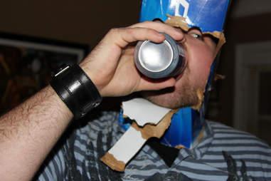 guy drinking beer