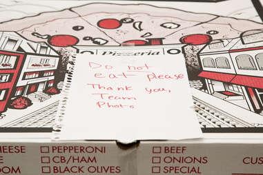 Do not eat pizza
