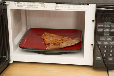 Pizza in microwave