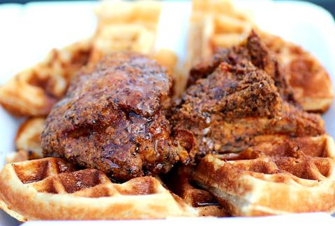 Chicken and Waffles at Tootie's Cabaret