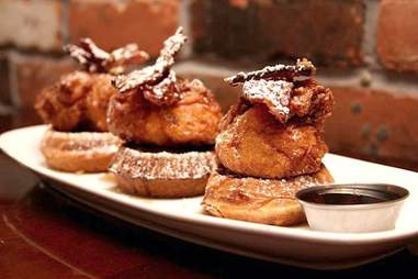 Chicken and waffles at Rok:Brgr