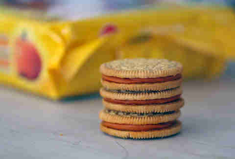 pumpkin spice oreos close up