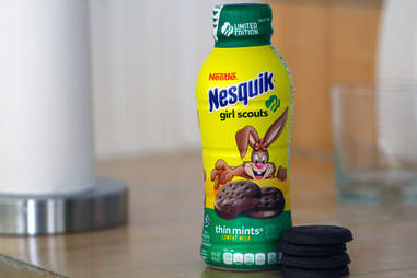 nesquik thin mint flavored milk