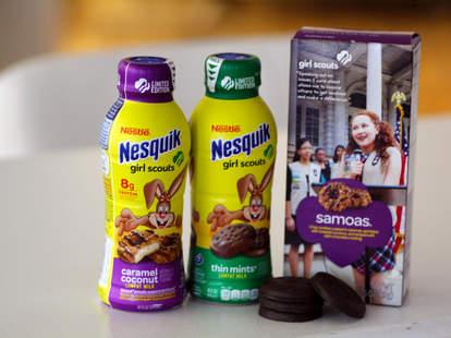 nesquik girl scout flavored cookie milk