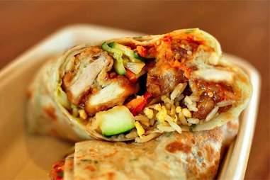 orange chicken burrito