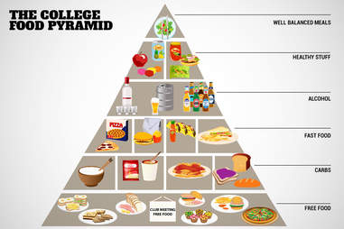 college food pyramid