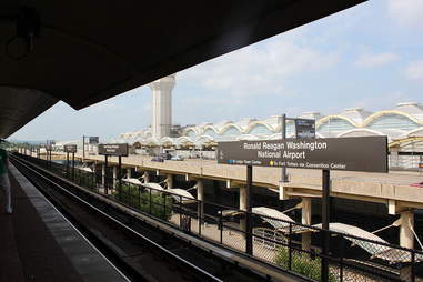 Metrorail at Reagan National Airport
