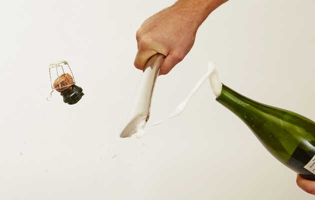 This champagne sabre is now available on Thrillist