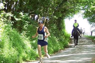 Human vs. Horse Marathon