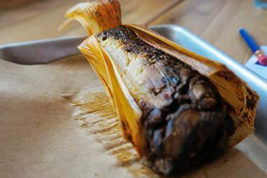 Mushroom Mole Tamale