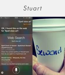 Siri vs. Starbucks spelling Stuart