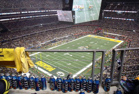 Miller Lite bottles at Lambeau Field