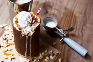 snickers edible glass milkshake