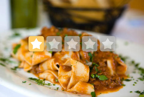 Botto Bistro one-star Yelp rating