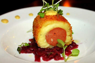 Potato Rolled venison sausage at The Federal in Miami