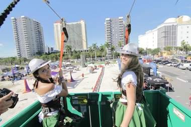 Zipline at Oktoberfest Miami