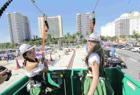 Zipline at Oktoberfest Miami