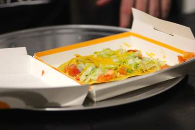 Taco Bell's spicy tostada