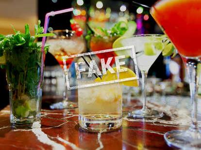 fake cocktail bar