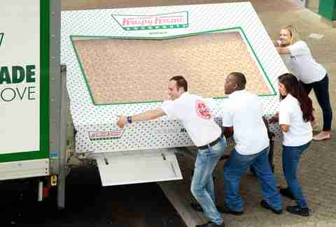 krispy kreme box of 2400 donuts