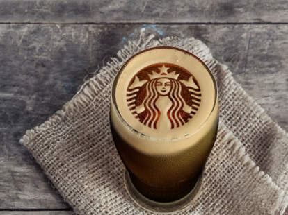 starbucks logo in stout