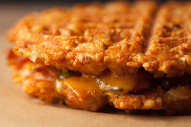 tater tot waffle grilled cheese