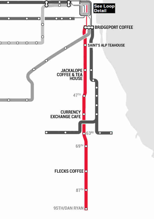 red line south coffee cafes