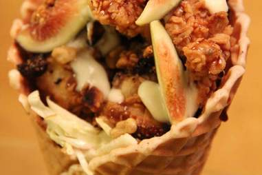 chicken and waffle cone