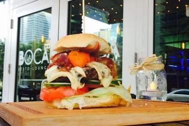 Brie and bacon burger at La Boca House Miami