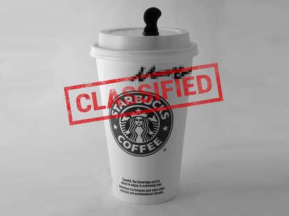 Starbucks classified cup