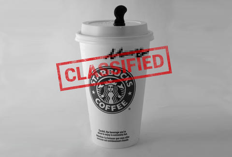 Starbucks classified cup