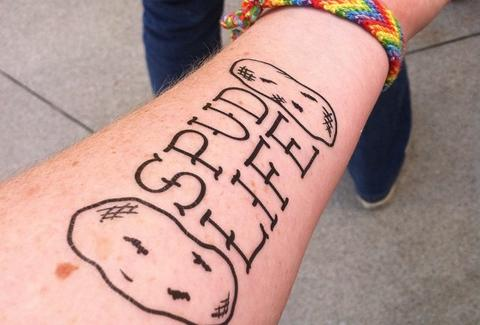 Spud Life temporary tattoo