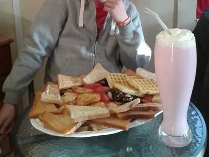 The Hibernator breakfast at Bear Grills