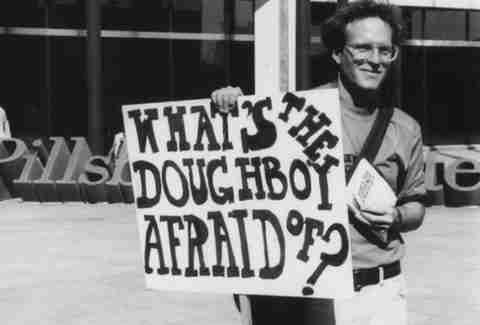What's the Doughboy Afraid Of? sign