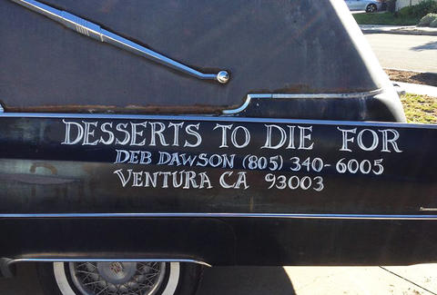 Desserts to Die For dessert hearse