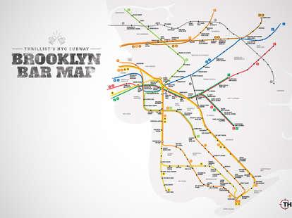 Brooklyn Bar Subway Map