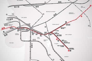 23 Brooklyn Bar Subway Map