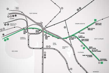 45 Brooklyn Bar Subway Map