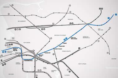 AC Brooklyn Bar Subway Map