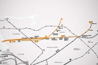 JMZ Brooklyn Bar Subway Map