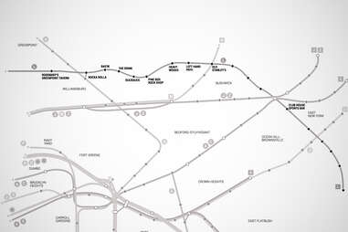 L Brooklyn Bar Subway Map