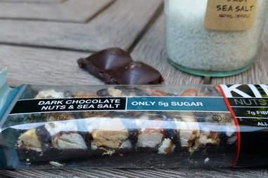 dark chocolate nuts and sea salt